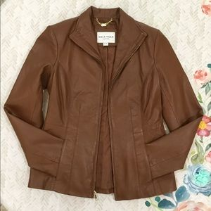 Cole Haan Leather Jacket Size XS/TP, 2